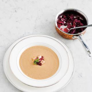 Cream of Caramelized Onions and Foie Gras Soup for Christmas.