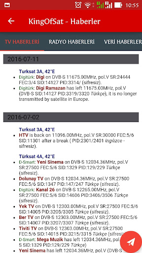 Turksat Frequency List screenshot 8
