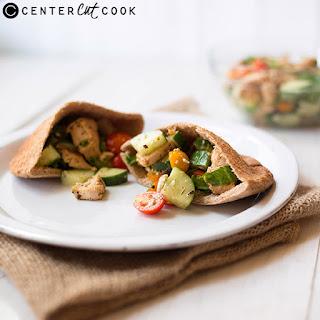 Mediterranean Chicken Pitas.