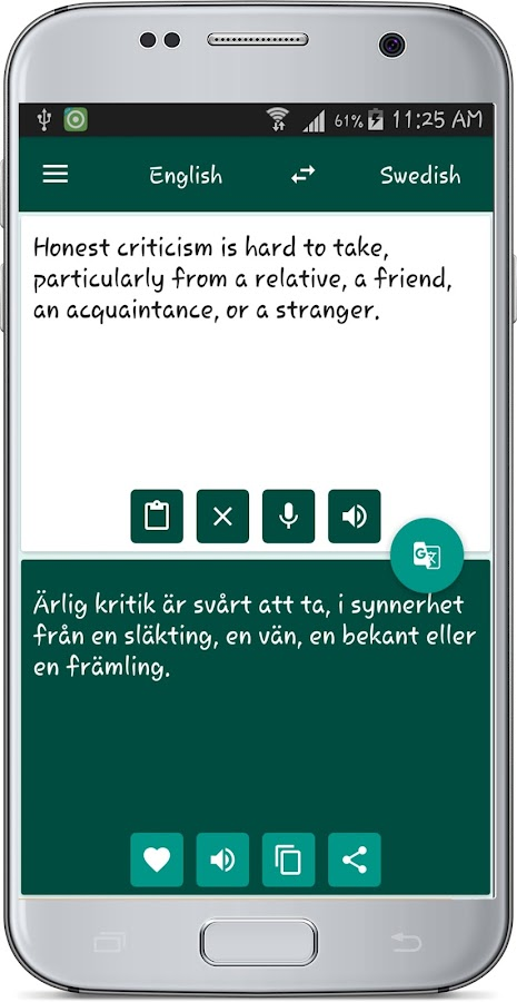 english swedish translate android apps on google play. Black Bedroom Furniture Sets. Home Design Ideas