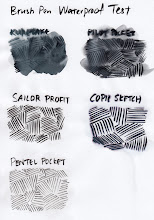 Photo: Brush Pens Compared http://www.parkablogs.com/node/11382