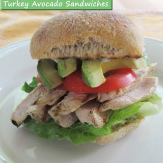 Grilled Turkey Avocado Sandwiches.
