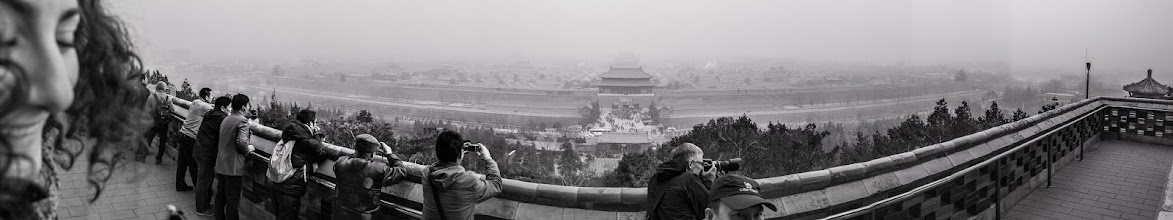 Photo: This is what you call a good photobomb :)  Trying out the pano feature on my X-Pro 1  #beijing  #china  #fujixpro1  #fuji  #panoramaphotography  #panoramic  #panoramicphotography  #blackandwhitephotography  #blackandwhite  #photobomb