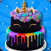 Tải Black Unicorn Cake Maker! DIY Rainbow Glitter Food APK