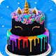 Black Unicorn Cake Maker! DIY Rainbow Glitter Food (game)