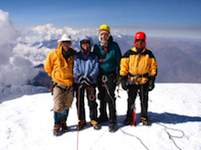 Bolivia, Illimani - On the summit of Illimani.
