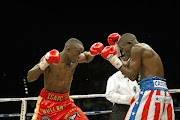 Former boxing champion  Isaac Hlatshwayo, left, and ex-pro fighter Cassius Baloyi.