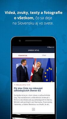 Správy  RTVS - screenshot