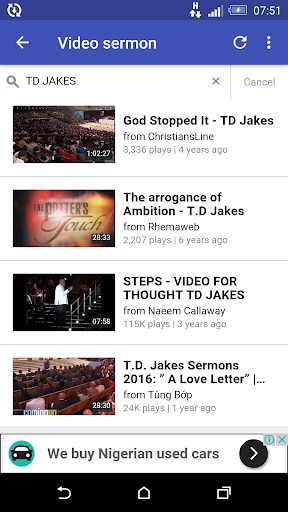 T D JAKES SERMON App Report on Mobile Action - App Store