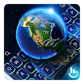 3D Galaxy Earth Keyboard Theme Android APK Download Free By Love Cute Keyboard
