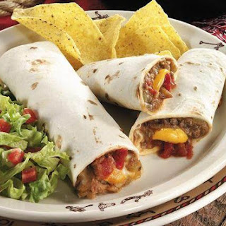 Beef and Bean Wraps.