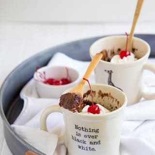Microwave Chocolate Mug Cakes.