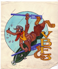 Photo: VBF-3 insignia. Insingia approved 1945 and discontinued in 1946. Squadron established on 2 January 1945 in Central Pacific, redesignated VF-4A on 15 November 1946, VF-32 on 7 August 1948, VFA-32Naval Aviation History