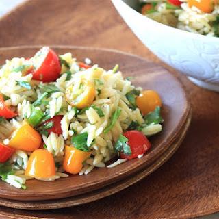 Tomato Basil Orzo Salad