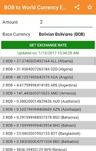 BOB to All Exchange Rates & Currency Converter - náhled