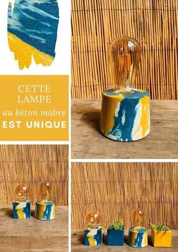 lampe béton à poser