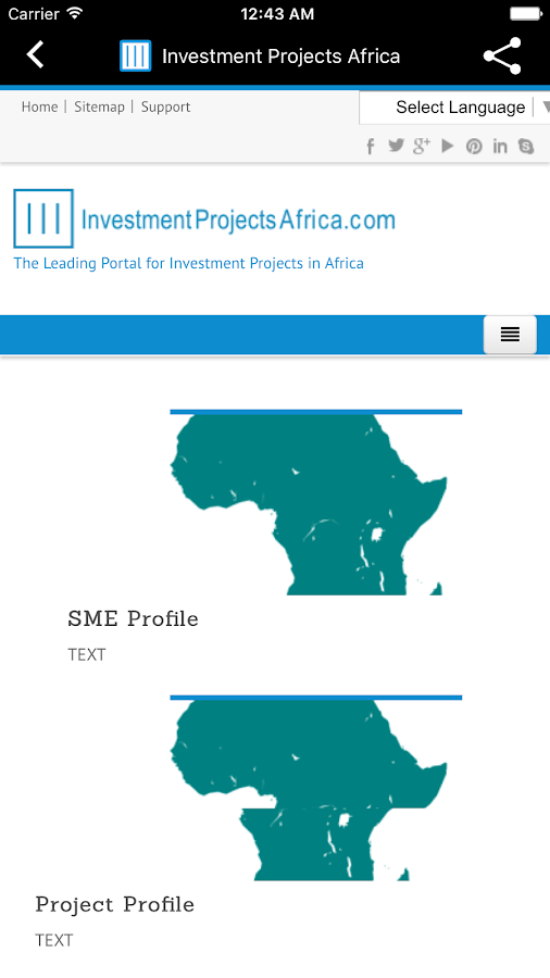 Investment Projects Africa- screenshot