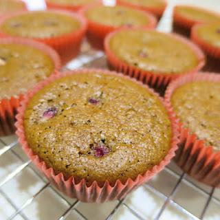 Almond Chocolate & Pomegranate muffins.