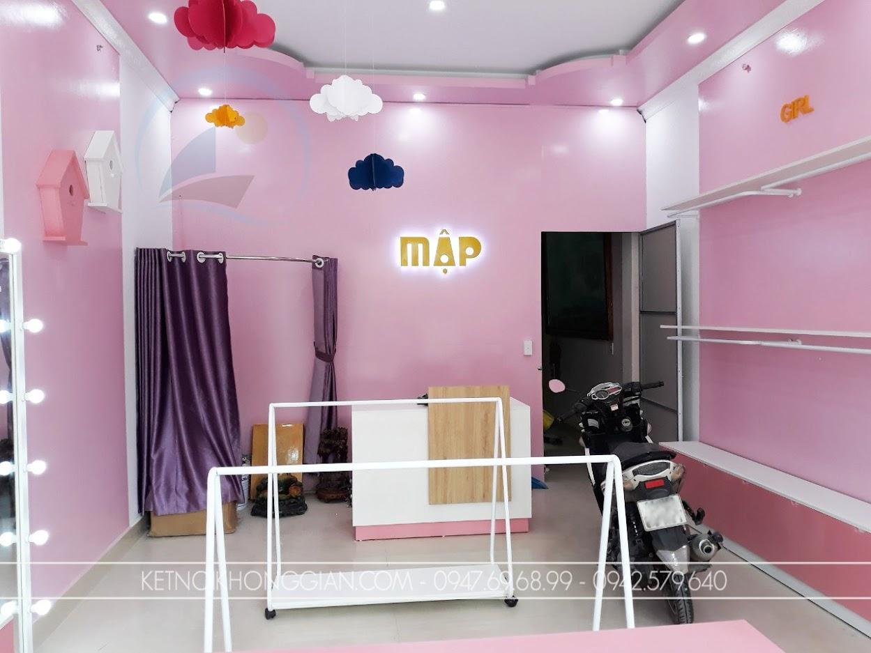 thiết kế thi công shop quần áo trẻ em
