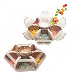 Cutie depozitare snacks/dulciuri, 6 compartimente