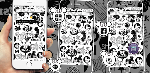 Cute Mouse Black White Graffiti Theme 3d Apps On Google Play