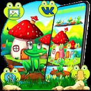 Green cartoon frog theme