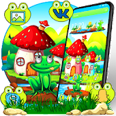 Green Cartoon Frog Theme Android APK Download Free By Fancy Theme Palace