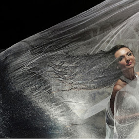 Wind by Victor Vertsner - Wedding Bride ( wind, wail, wedding, dress, bride )