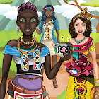 African Traditional Fashion - Makeup & Dress up icon