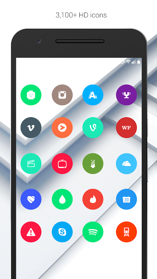 Material Things Colorful Theme- screenshot
