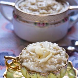 Senegalese Coconut Rice Pudding.