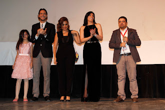 Photo: The opening of Decor at Cairo international Film Festival Nov 2014, Khaled Naga, YAra Goubran, Horeya Farghaly  Ahmad Abdalla and Liana Akram