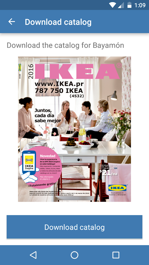IKEA Inspire- screenshot