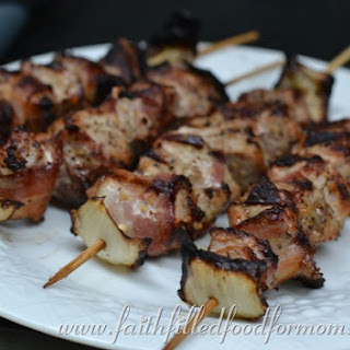 Pork Ranch and Bacon Shish Kabobs