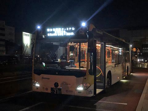 西鉄 福岡連接バス 0201_05 博多港国際ターミナル到着