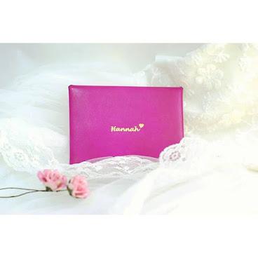 Slim envelope leather case / credit card holder / slim purse personalized engrave initial