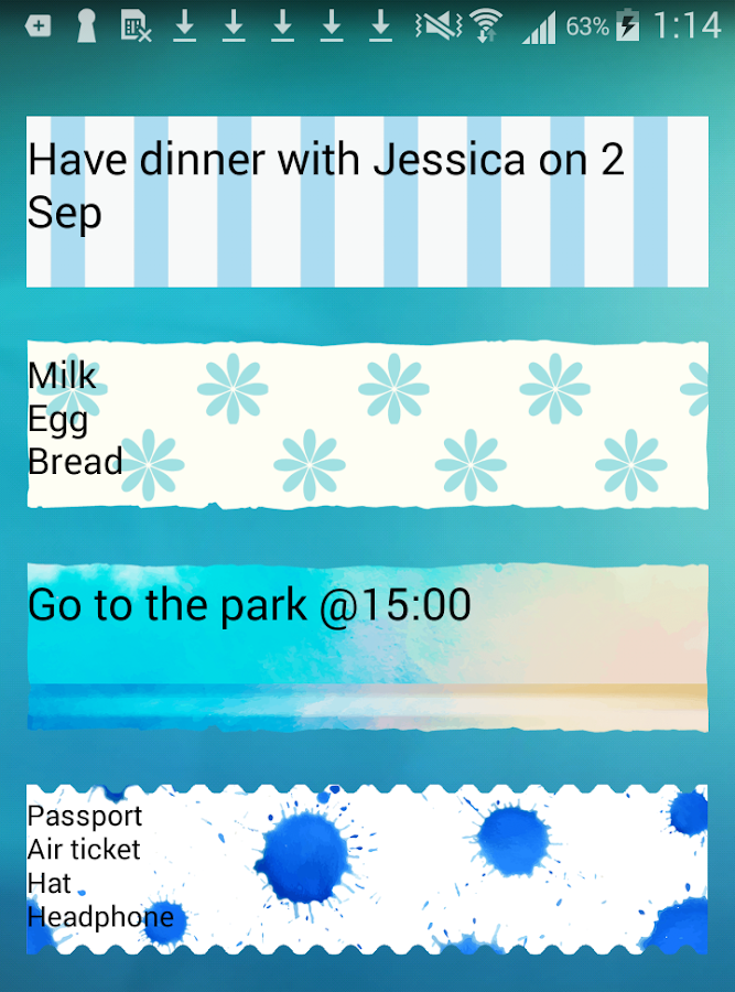 Sticky Memo Notepad*Ocean*Lite- screenshot