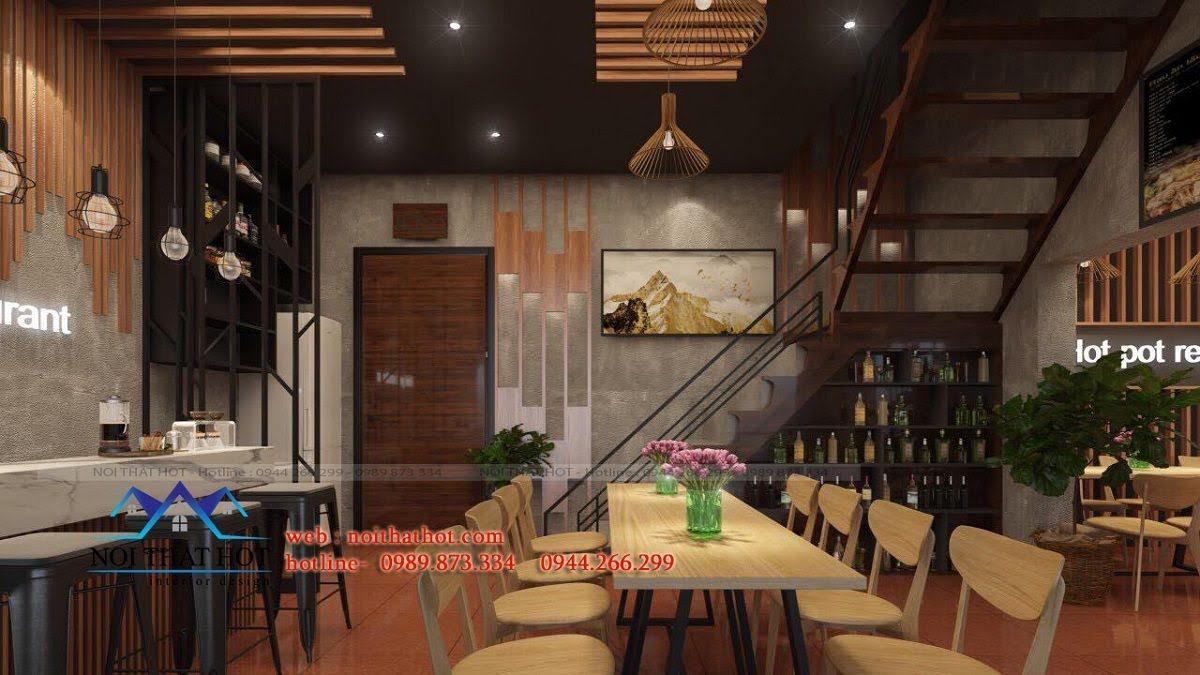 thiết kế nhà hàng lẩu nướng Đông Anh 2