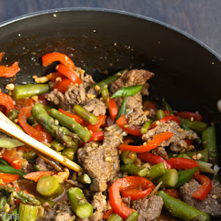 Szechaun Beef with Asparagus