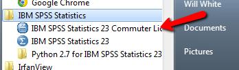 SPSS Commuter License