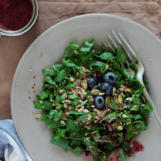 Watercress and Quinoa Salad with Blueberry Vinaigrette.