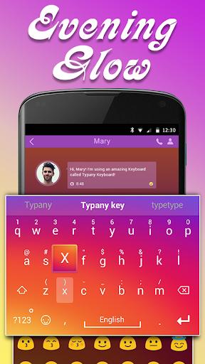 Evening Glow Theme Keyboard  screenshots 1
