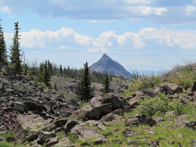 Mount Marvine peeking up