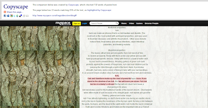 Photo: Finally got to Copyscape Mykal's sample from his Fae book (as previously screen captured.) I had to tweek the screen cap's levels a bit so Adobe's OCR would work. I'm beginning to wonder if he simply can't find 33 words in any of his products that hasn't been plagiarized to some degree.