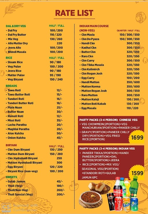 The Manish Eating Point menu 4
