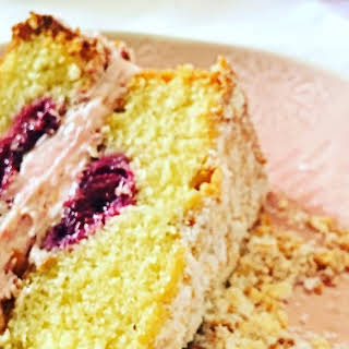 Raspberry, Coconut & Lime Cake.