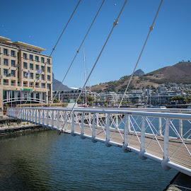 Cape Town - V&A Waterfront by Lanie Badenhorst - City,  Street & Park  Street Scenes ( #movingbridge, #capetownwaterfront )