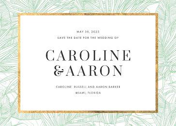 Caroline & Aaron's Wedding - Wedding Invitation Template