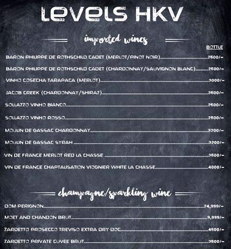 Menu 11 - Levels HKV, Hauz Khas Village, New Delhi