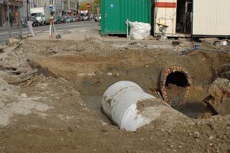 Photo: oude en nieuwe riolering...